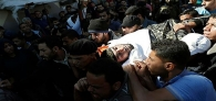 Funeral Held in Gaza for Victims of Zionist Regime's Tunnel Attack