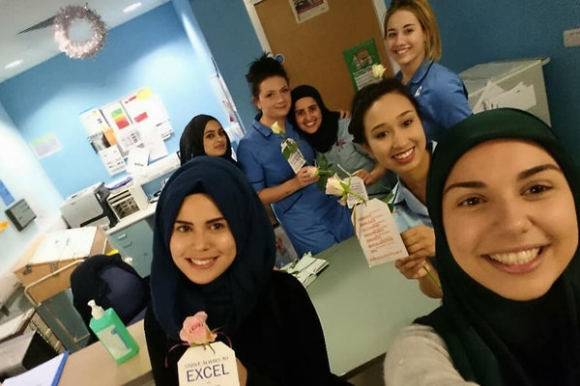 Muslims gift Roses to Queen Elizabeth Hospital on Christmas Eve