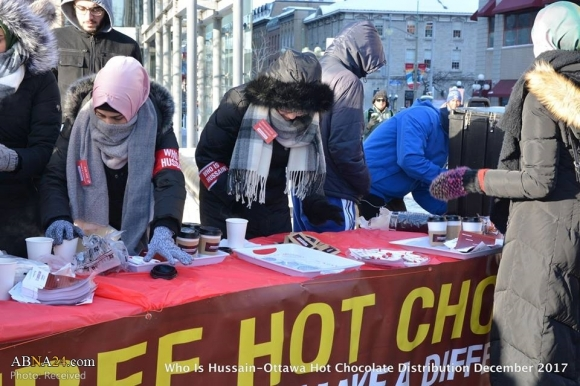Serving hot tea for love of Imam Hussain in Ottawa